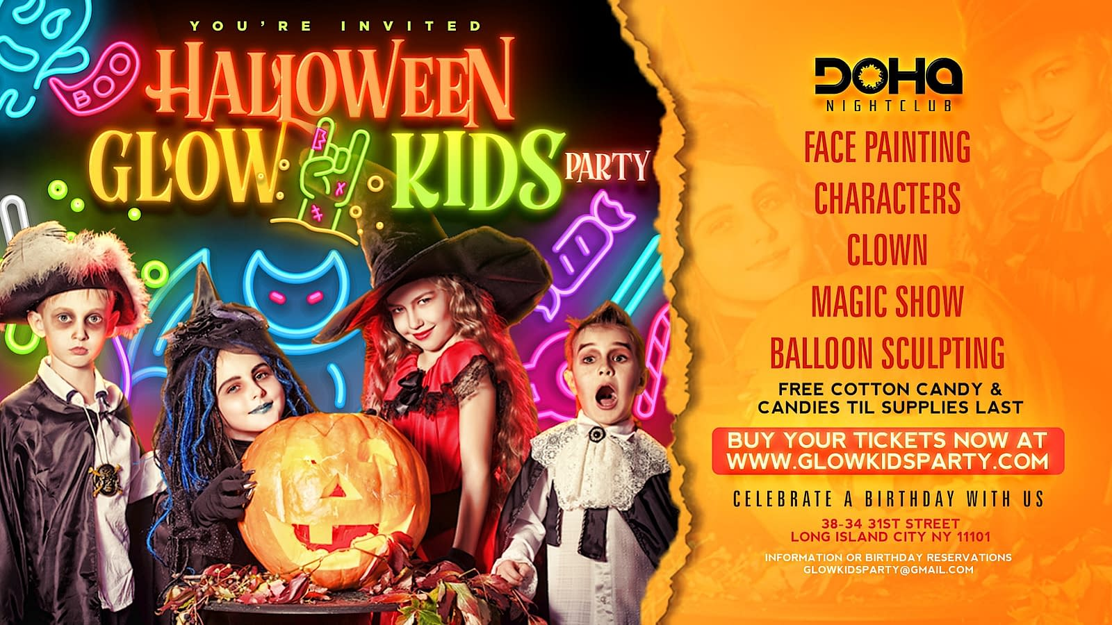 Best Halloween Kids Party Glow Kids Party In Nyc