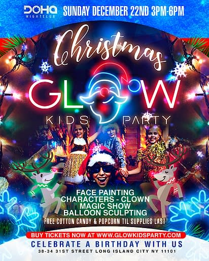 Best Christmas Kids Party Glow Kids Party In Nyc
